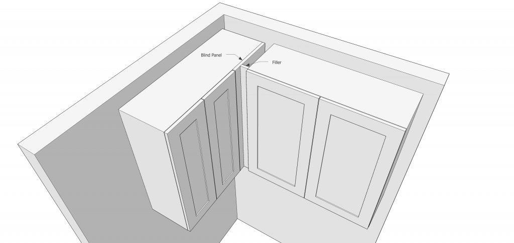 Designing kitchen cabinets with filler
