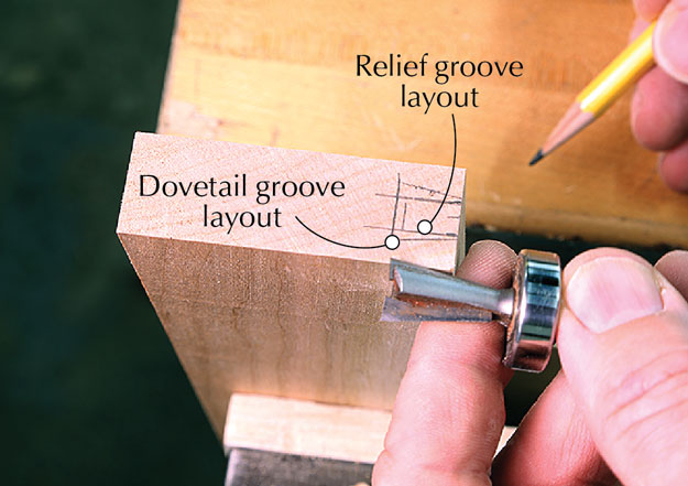 breadboard dovetail layout