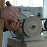 Sharpening hand tools is fast and easy with Steve Maxwell's setup.