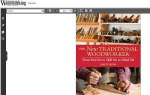 Traditional meets very modern. This is a screenshot from the Popular Woodworking e-book site.