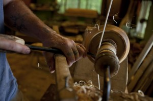 """Power"" tools in the green woodworking tradition were body-powered."