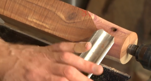 Ride the bevel against the workpiece at the start of a cut to prevent catches.