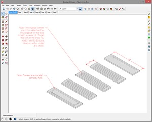Router bit in Sketchup